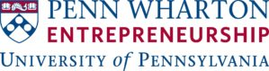 Blue and Red Shield for the University of Pennsylvania. Penn Wharton Entrepreneurship.